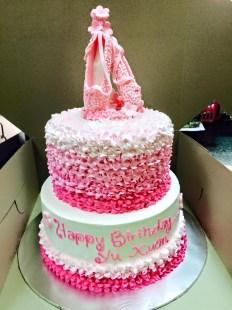 2 tier birhtday cake