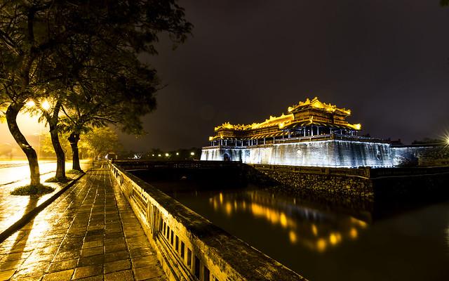 Forbidden Purple City after the rain - Ruins in Hue Vietnam