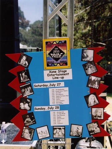 XOne Youth Stage at San Diego LGBTQ Pride Festival, 2002