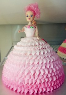 pink barby cake