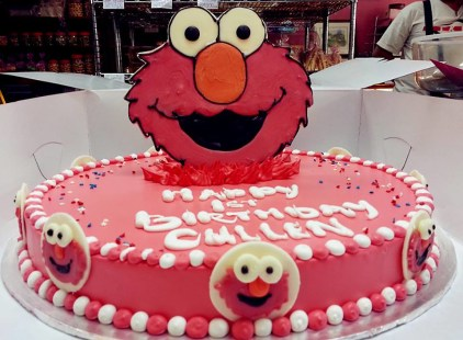 elmo theme birthday cake
