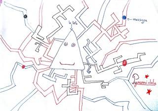 Dessin de neurone pyramidal dans les temps périscolaires avec les Savanturiers et la Mairie de Paris.