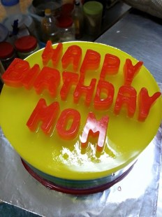 rainbow agar-agar for non cake lover birthday