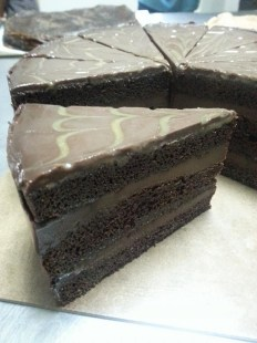 Chocolate Caramel - moist chocolate cake with chocolate & caramel in every layer