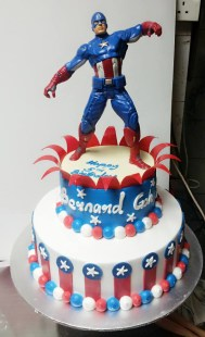 captain america birthday cake
