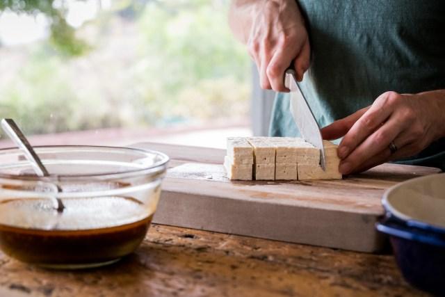 then cut into cubes
