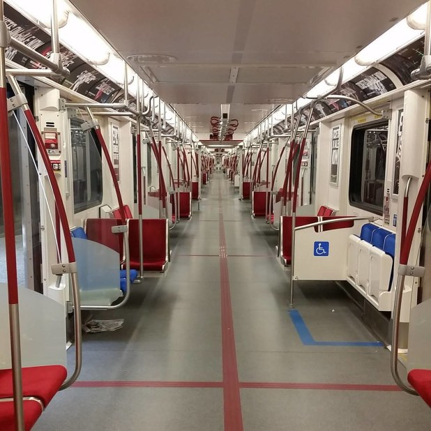 Empty subway train on Sunday noon #toronto #torontolife #o… | Flickr