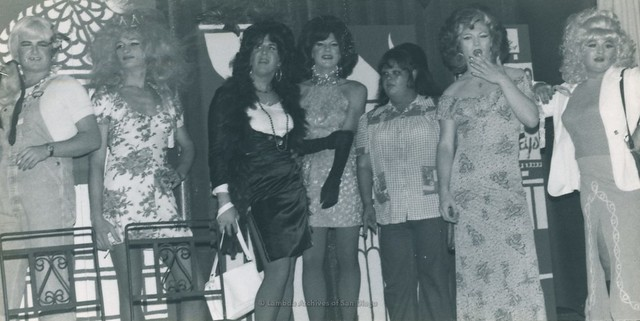 'Hookers' at the Hooker-Hustler Ball, the Trollop Awards at Ball Express Gay Men's Dance club in San Diego - 1976