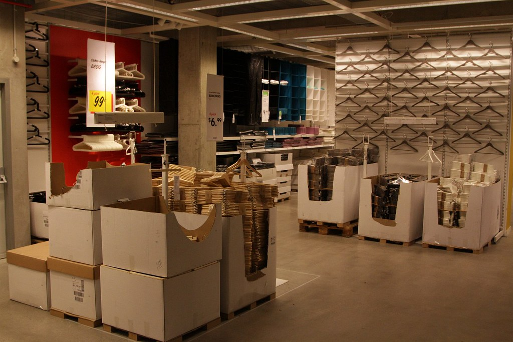 Coat Hangars Galore In The Ikea Market Hall Shopping At