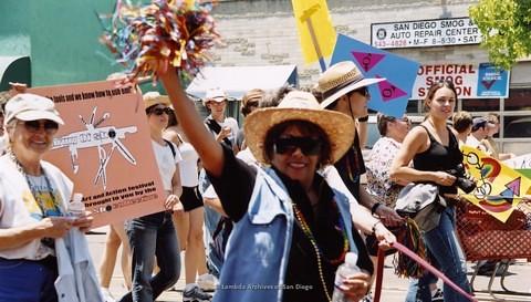 San Diego LGBTQ Pride Dyke March, 2001