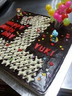 happy 1st year old birthday to yuki - chocolate tuxedo