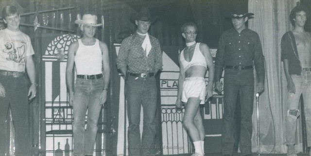 Hustlers at the Hooker-Hustler Ball Event, the 'Trollop Awards' at Ball Express Gay Men's Dance Club in San Diego - 1976