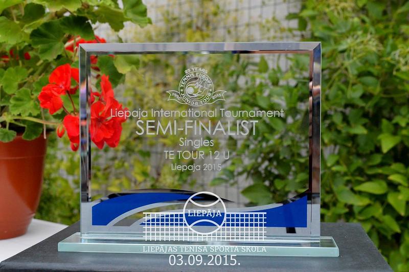 Tennis Europe Liepaja International tournament U12, 2015, September 3, 4th day