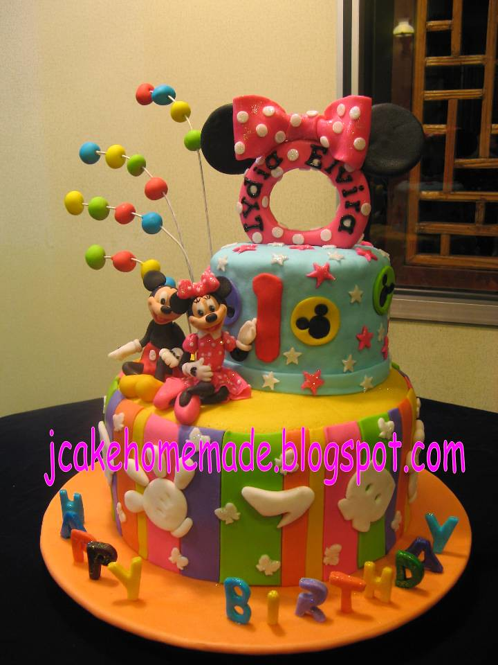 Mickey And Minnie Birthday Cake Happy 1st Birthday Lydia