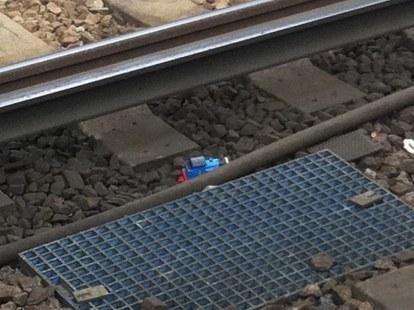 Small blue train