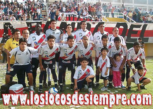 Plantel: Reyes, Ruiz, Nicolini, Campos, Honores; Hinchados: Angulo, Ventura, Vila, Robladillo, García y Díaz. Foto: www.loslocosdesiempre.com