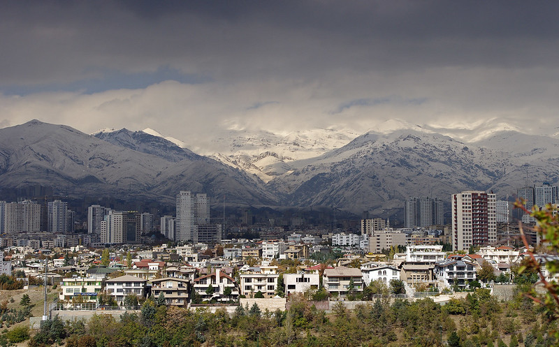 skyline of tehran