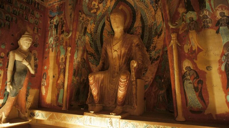 Buddhist statues (Mogao caves), Dunhuang, Xinjiang