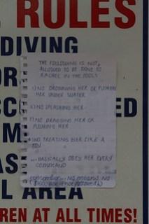 Rachel's pool rules . . . . . .