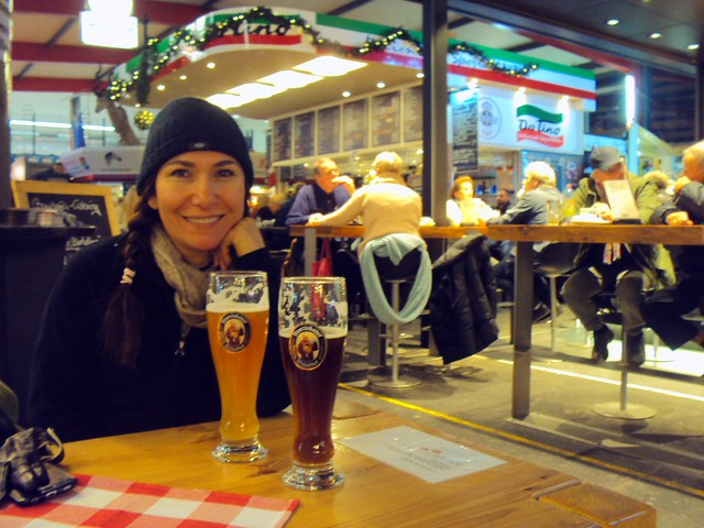 Dinner and beers in Hannover's fun Markthalle by bryandkeith on flickr