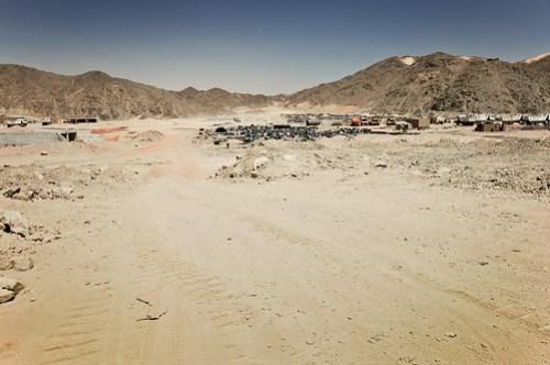 Road building camp in Nubia