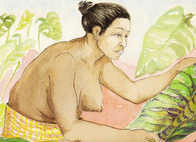 Woman With Leaf