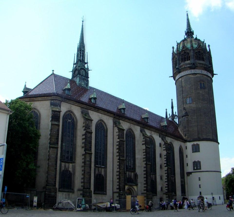 exterior Iglesia de Todos los Santos Iglesia del Palacio Schlosskirche Wittenber Lutherstadt Alemania 01