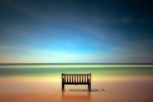 Bench with sea view