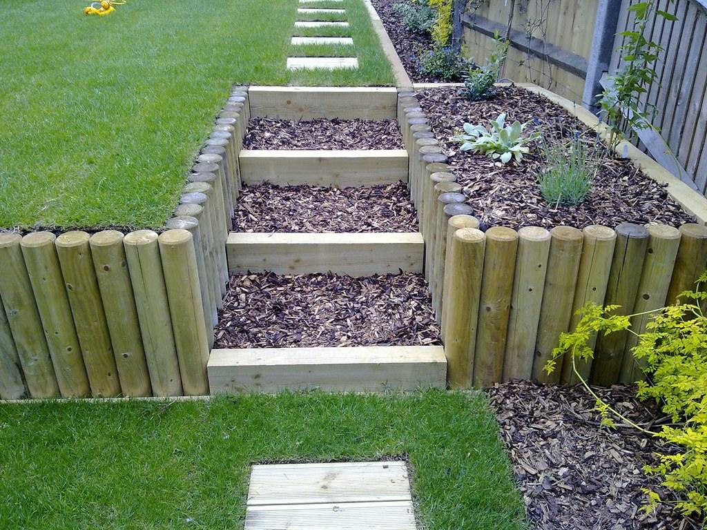 Terracing a sloping garden | These photos show the ... on Garden Ideas For Sloping Gardens id=28595