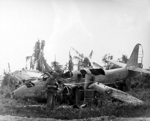 Wrecked Japanese Plane