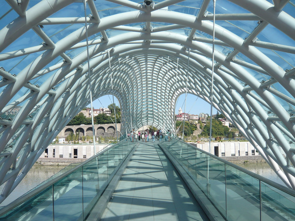The Bridge Of Peace Tbilisi New Bridge Connecting Old
