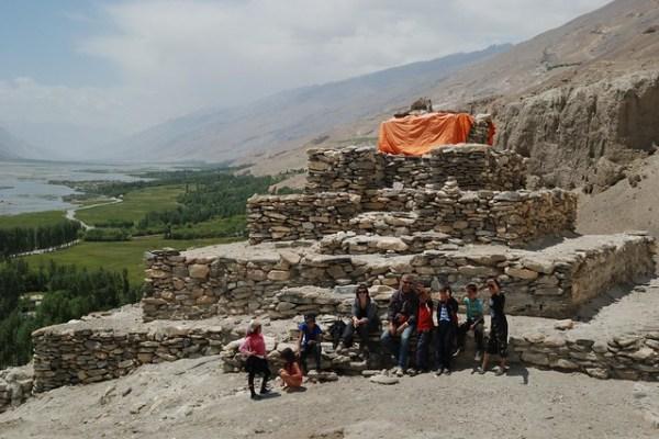Budhist stupa, Vrang, Wakhan Valley, Pamir, Tajikistan © Bernard Grua 2011