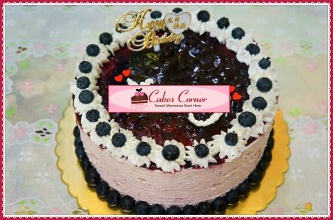 Blueberry Unbaked Cheesecake