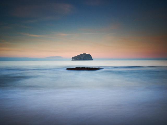 Bass Rock from Seacliff Beach, East Lothian