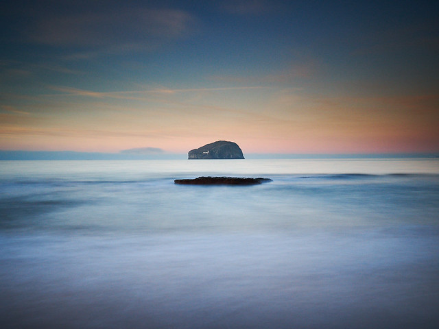 Bass Rock from Seacliff Beach, East Lothian