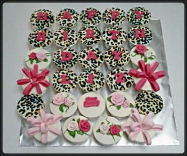 leopard birthday cupcake