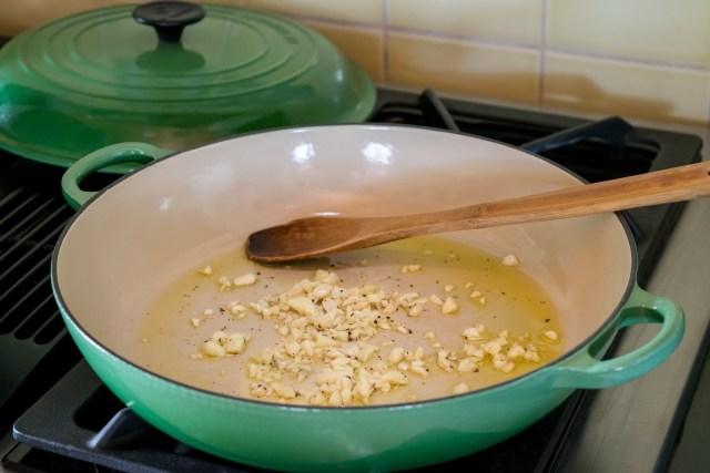sautéing the garlic smells so good