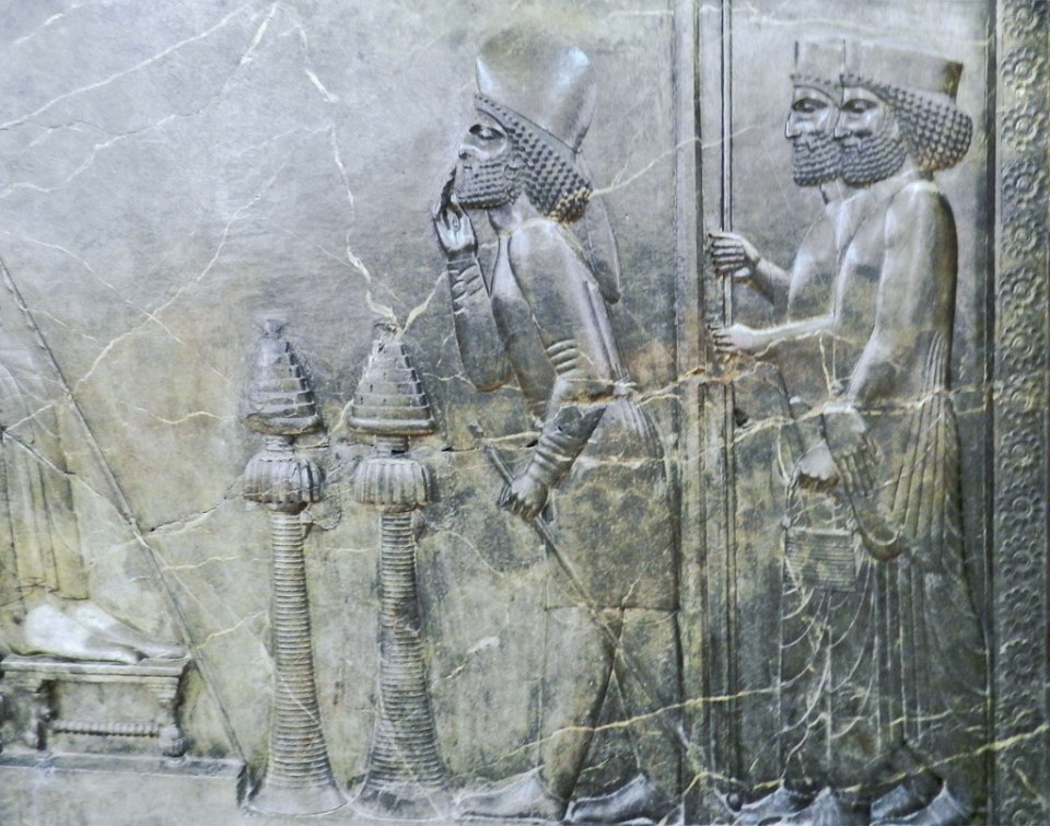Relieve Tesoro de Persepolis Museo Arqueologico Nacional Teheran Iran 62