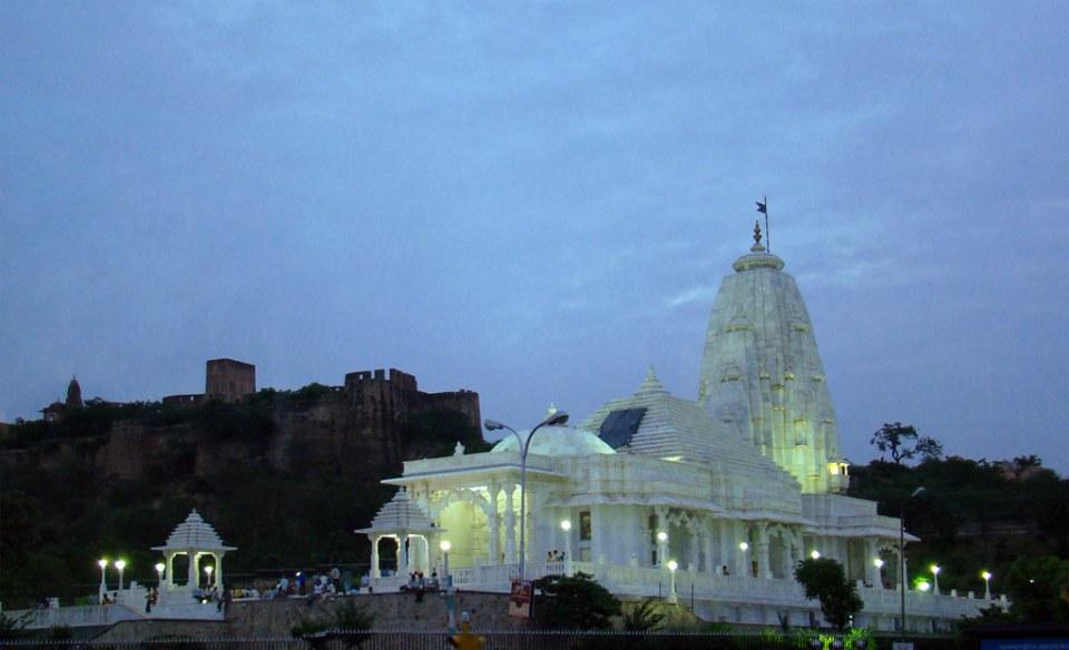vista exterior Templo Birla Mandir Jaipur India 02