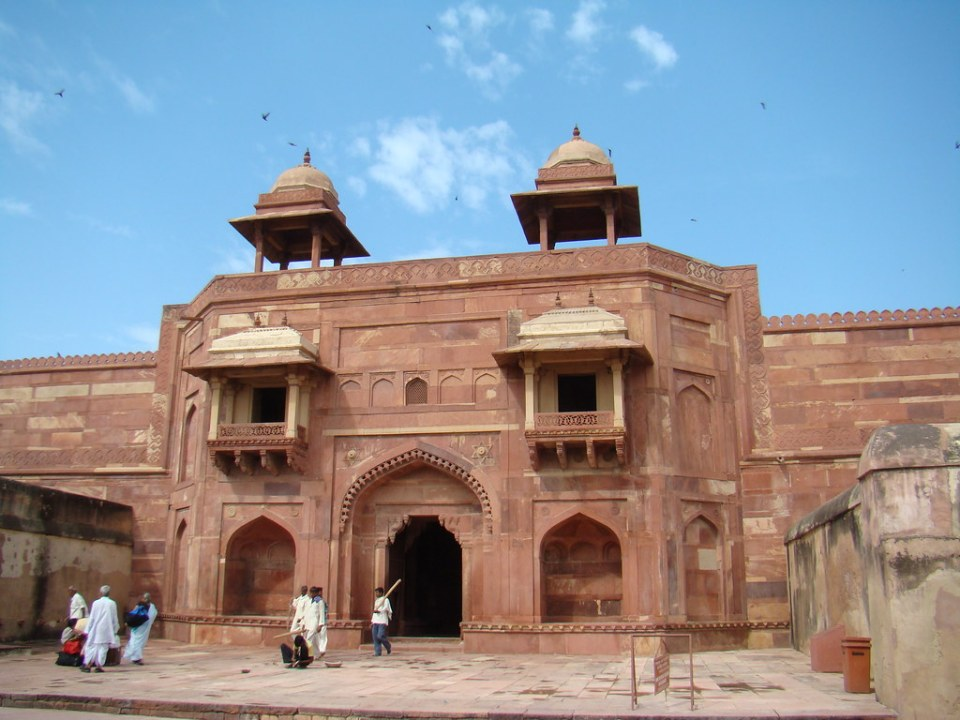 entrada del Palacio de Jodha Bai zenana del emperador Akbar Fatehpur Sikri India 03
