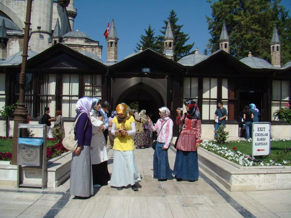 Su gente Mausoleo de Mevlana Konya Turquia 27