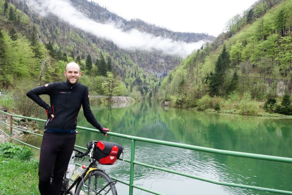 On a day trip from Lake Bled to Lake Bohinj, halfway there