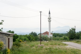 Looking over the border into Albania from Montenegro
