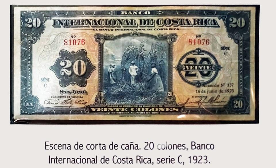 1923 Billete de Costa Rica Museo Numismática Banco Central San José de Costa Rica 13