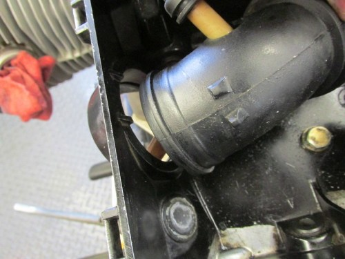 Left Air Box Intake Tunnel Removed