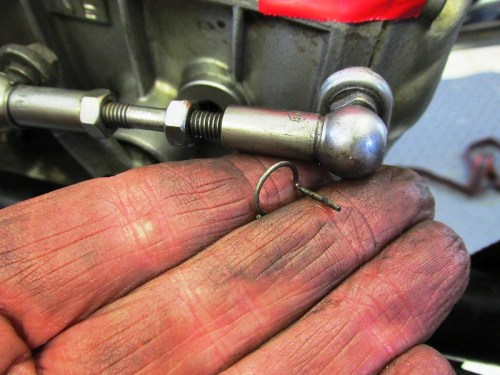 Shift Lever Adjuster Wire Clip Detail