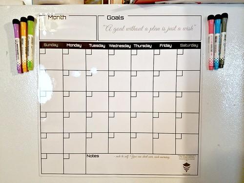 Magnetic Dry Erase Calendar Whiteboard Set Review #MySillyLittleGang