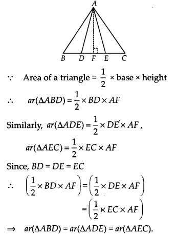 NCERT Solutions for Class 9 Maths Chapter 9 Areas of Parallelograms and Triangles Ex 9.4 A2