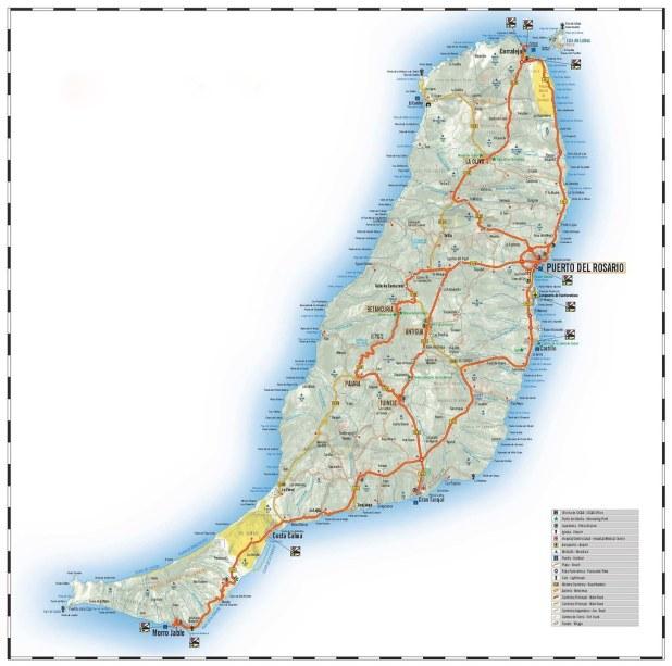 Mapa de Fuerteventura para recorrer la isla