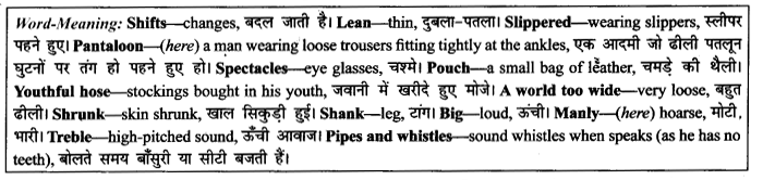 NCERT Solutions for Class 9 English Literature Chapter 10 The Seven Ages 6